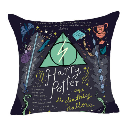 Harry Potter Sofa Pillow Case Back Cushion Cover Cotton Linen Home Bed Decor