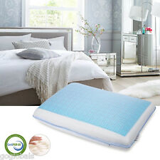 Memory Foam Bed Pillow Neck Pain Relief Cooling Gel Pad Mesh Fabric Cover New