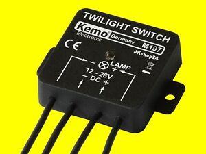 KEMO M197 Dämmerungsschalter 12 - 28 V Dämmerung Relais-Schalter ...