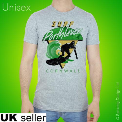 70s Porthleven T-shirt Surf Tshirt Cornwall Surfing Sport Top Retro 80s Tee Wave