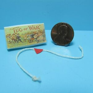 Dollhouse Miniature Toy Tug of War Rope and Box Set ~ CAR1497