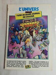 N82 Rivista Universo Okapi N° 241 Fare Uno Grande Giornale IN Colore