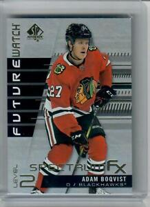 2019-20 SP AUTHENTIC ADAM BOQVIST FUTURE WATCH SPECTRUM FX