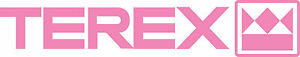 TEREX-TRACTOR-EQUIPMENT-DIE-CUT-DECAL-STICKER-10-5-034-X-2-034-SET-OF-2-PINK