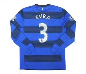 Manchester United 2011-13 ORIGINALE Away Camicia L/S EVRA #3 (bene) M