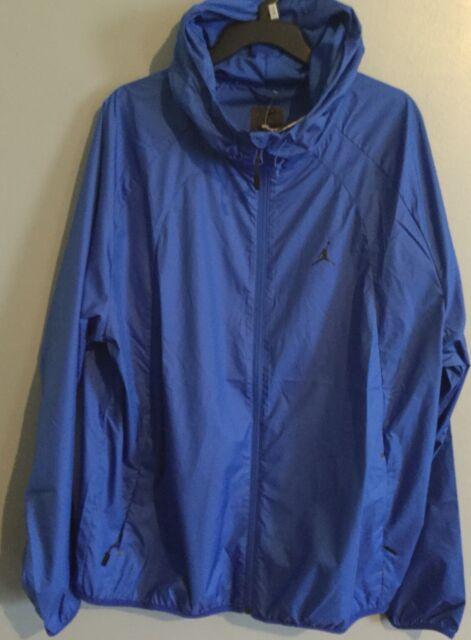 32e7d0ae954a Air Jordan Nike Windbreaker Blue Jacket Wings 897884 480 Mens Size XL