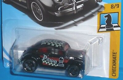 262//365 Hot Wheels 2018 50th Anniversary Checkmate Volkswagen Beetle Pawn Black