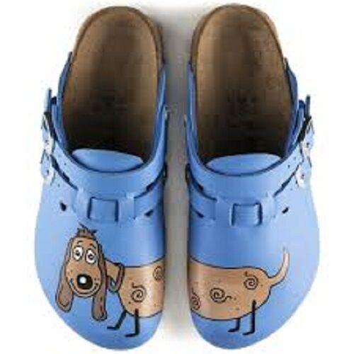 Birkenstock Clogs Pantolette Kay 582536 BF blau Superlauf dog Blau Hund blau BF schmal bbbd5a