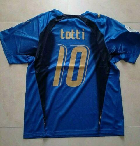 MAGLIA ITALIA TOTTI 10 MONDIALE GERMANIA 2006 RETRO VINTAGE JERSEY PATCH MONDO