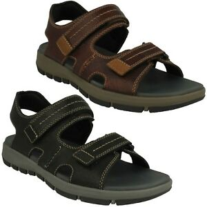 780d4799852 MENS CLARKS LEATHER OPEN TOE CASUAL SUMMER SANDALS SHOES SIZE BRIXBY ...