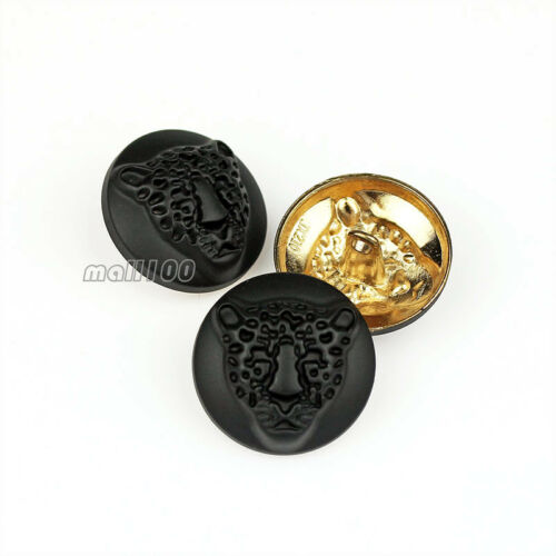 12PCS Upscale Leopard Metal Round Shank Button Sewing Embellishments For Coat