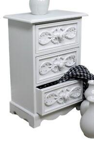 kommode klein schr nkchen 3 schubladen wei antik schmuckkommode landhaus rosali ebay. Black Bedroom Furniture Sets. Home Design Ideas