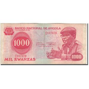 #594650 An Enriches And Nutrient For The Liver And Kidney 1979-08-14 20-25 Banknote Vf New Fashion Km:117a 1000 Kwanzas Angola
