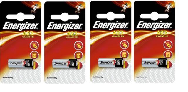 4 Piles A23 ENERGIZER LR23A LRV08 GP23A M21 23A 12Volt