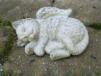 Cat Angel, Concrete Cat Memorial Statue, Cat Statues, Cement Cat With Wings,