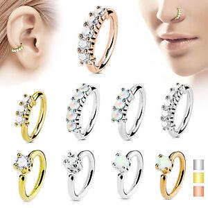 Tragus-Helix-Ohr-Kristall-Stecker-Piercing-Nasenring-Septum-Ring-Opal