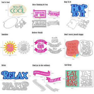 Words You are my sunshine metal Cutting Dies Stencils For Card Craft Decor S1