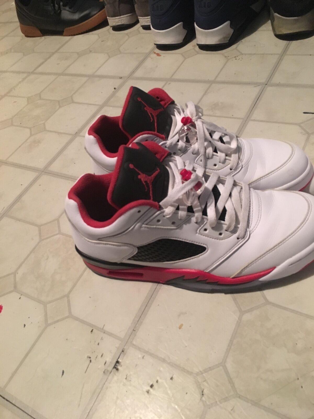Nike Air Jordan V 5 Retro Low FIRE RED 10.5 white black red