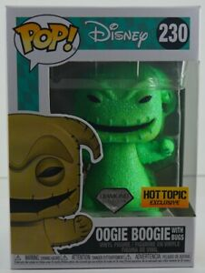 Funko Pop Disney Oogie Boogie W/Bugs #230 Diamond Collection Hot Topic Exclusive