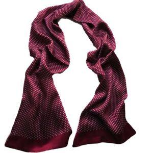 Homme-100-Murier-Soie-echarpe-double-couche-long-foulard-rouge-bleu-noir
