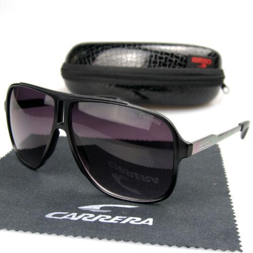 Fashion Men Women Retro Sunglasses Unisex Square Matte Frame Carrera Glasses C34