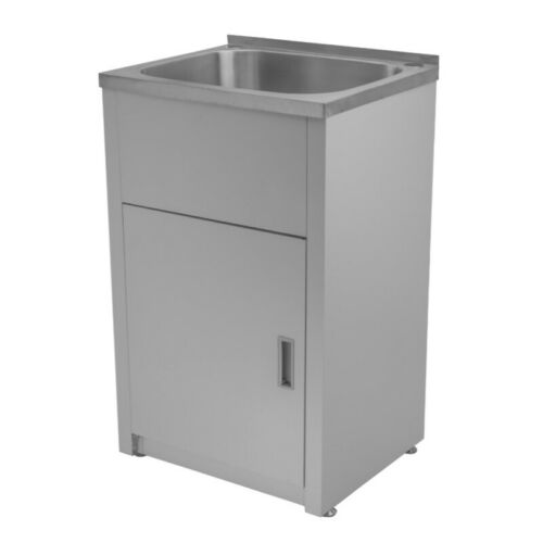 560 x 350 x 870 mm Laundry Tub Sink Stainless Steel Cabinet Single Bowl 30L