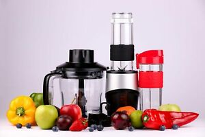 Professional-Blender-Chopper-Food-Processor-with-2-Personal-Glass-Jars