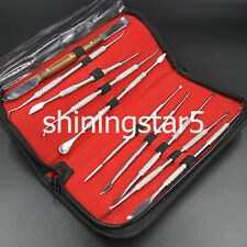 Dental Lab Equipment Surgical Wax Carving Tools Set Dentist Sculpture Knife Inst