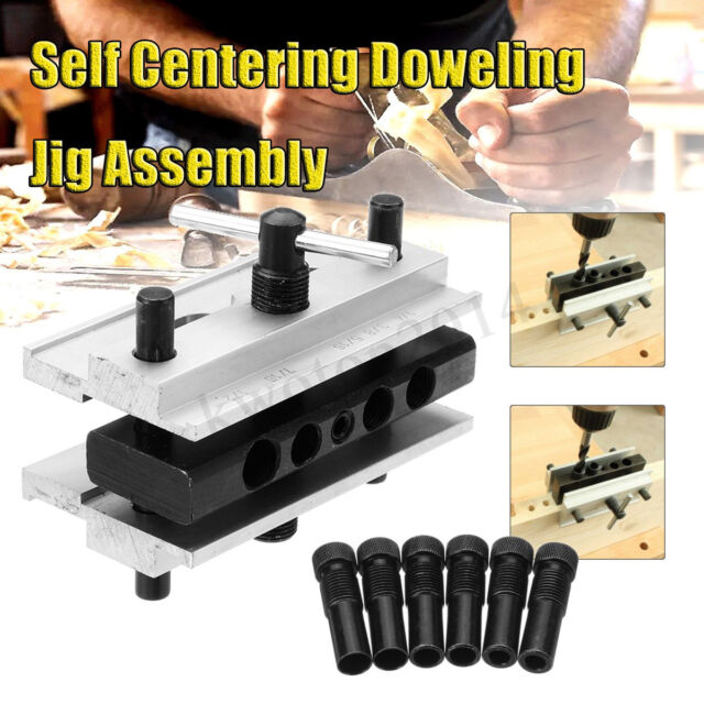 1//3//8//38Pcs Pocket Hole Jig Drill Handheld Dowel Woodworking Drilling Guide Tool