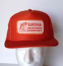 VTG Sportcap Sumter Seafood Company Fishing Snapback Trucker Hat Orange Mesh Cap