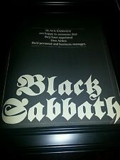Black Sabbath Don Arden Management Announcement Promo Poster Ad Framed!