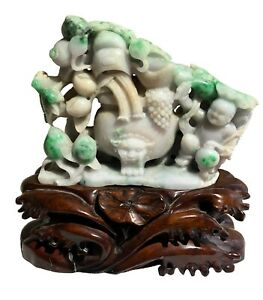 Important-White-Lavender-And-Imperial-Green-Jadeite-Jade-Carved-Statue