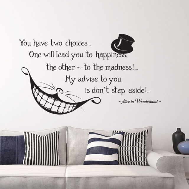 Decals Cheshire Cat Wall Decal Alice