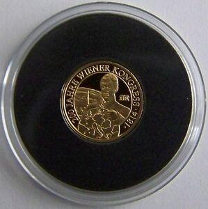 200 Jahre Wiener Kongress - Österreich - Gold - Medaille - Goldbarren Verpackung Der Nominierten Marke