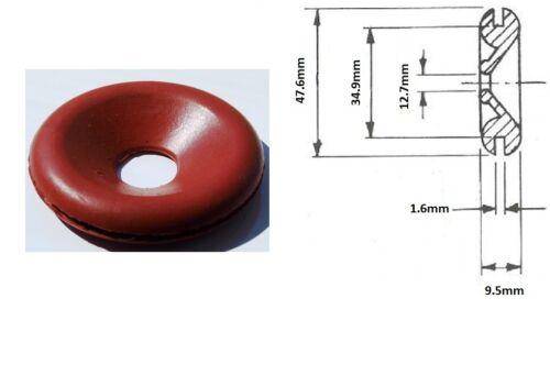 "35mm Lucas Rist Red Neoprene Wiring Grommet  :Part No.859856 2 x Orig 1 3//8/"""