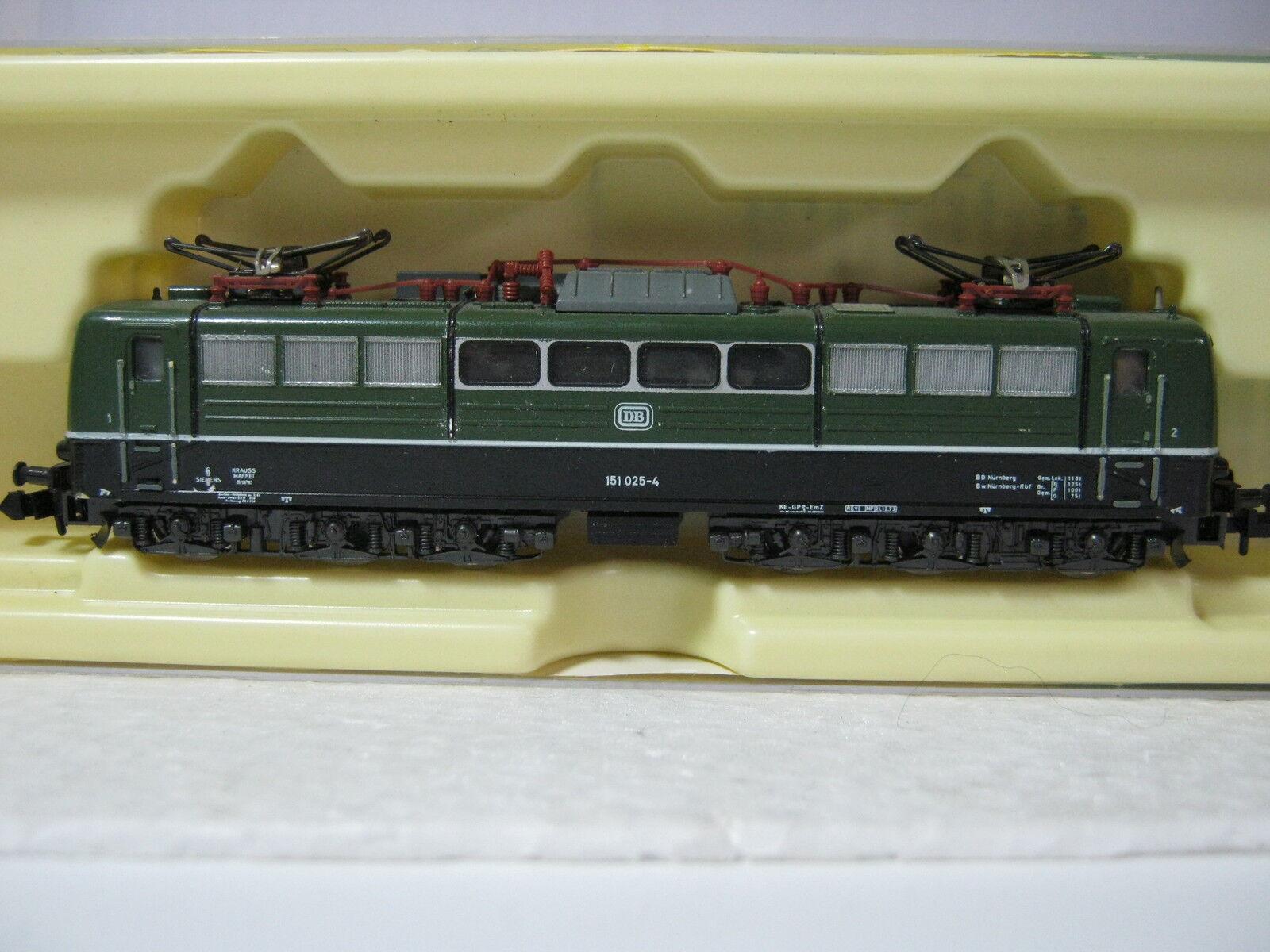 Minitrix Minitrix Minitrix N 2056 Elektro Lok BR 151 025-4 DB green black (RG AE 63S5) c22cbb