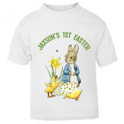 Printed with Your OWN Message Peter Rabbit Easter Bunny Unisex T Shirt