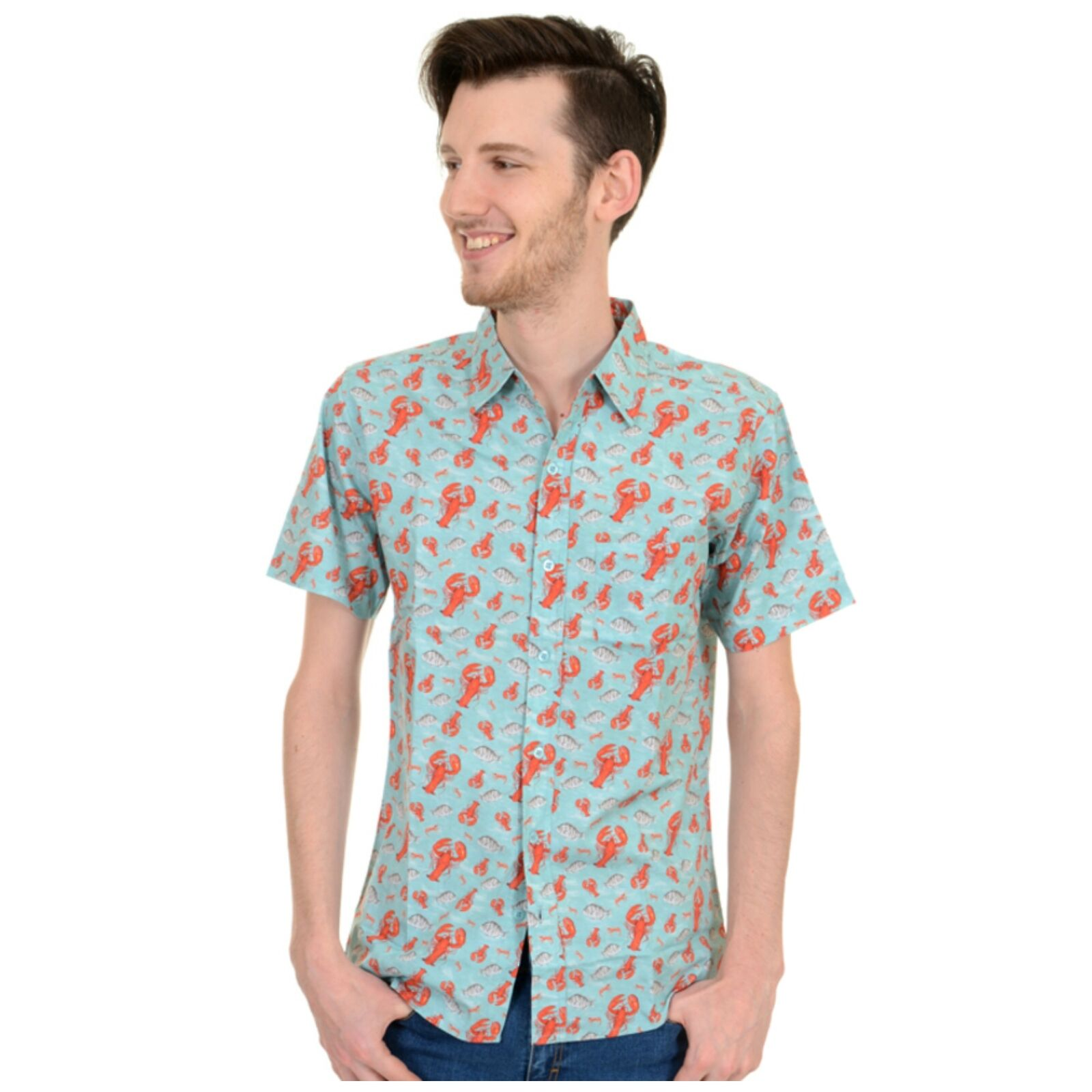 Lobster Print Shirt by Run and Fly