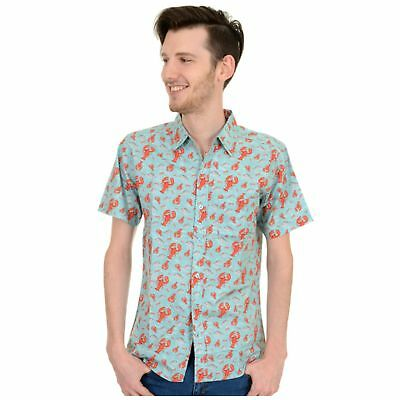 Humor Lobster Print Shirt By Run And Fly