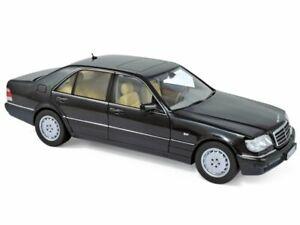 MB Mercedes Benz S 320 - 1997 - blackmetallic - Norev 1:18