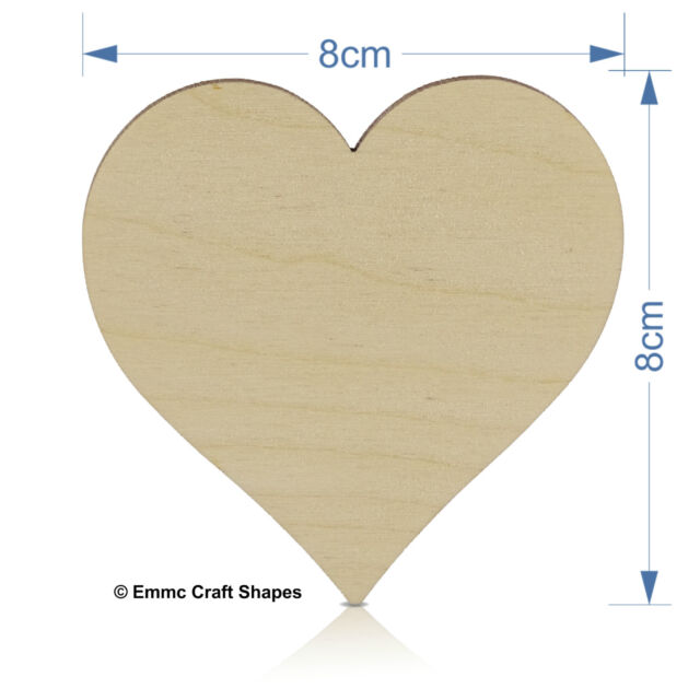 Wooden hearts shape, plywood craft blanks for weddings, Plaques and pyrography