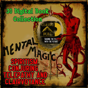 Mental-Magic-spiritism-conjuring-telepathy-clairvoyance-hypnotism-books