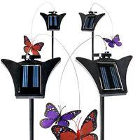 4-Pack Solar Powered Fluttering Garden Decor Butterfly