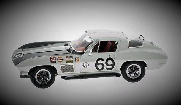 Chevy Corvette Corvette Racer Sport 18 Coche De Carreras Vintage 24 carrusel Blanco 12