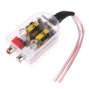 Convertitore-segnale-audio-alta-a-bassa-impedenza-RCA-stereo-auto-amplificatore