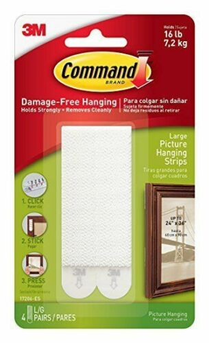 Blanc Command 7.2 kg photo Hanging bandes par commande 8 bandes large