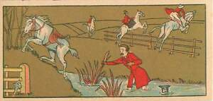 EQUITATION-CHASSE-A-COUR-HORSE-CHUTE-A-CHEVAL-IMAGE-CARD-CHROMO
