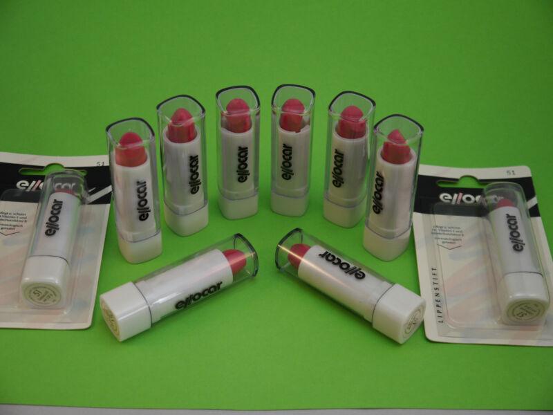 10x Lippenstift Rot Karneval Fasching Party Lipgloss Lippenstifte Set