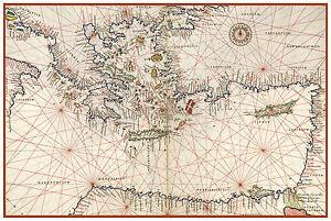 Eastern mediterranean sea greece turkey nautical map battista agnese image is loading eastern mediterranean sea greece turkey nautical map battista publicscrutiny Choice Image