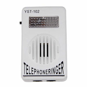 Telephone-Phone-Amplifier-Strobe-Light-Flasher-Bell-Extra-Loud-Ringer-Sound-HOT